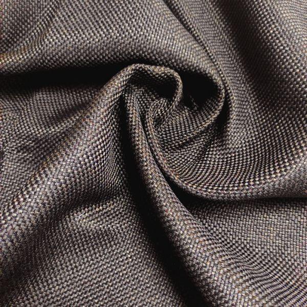 Рогожна тканина для штор дімаут Вега шоколадна