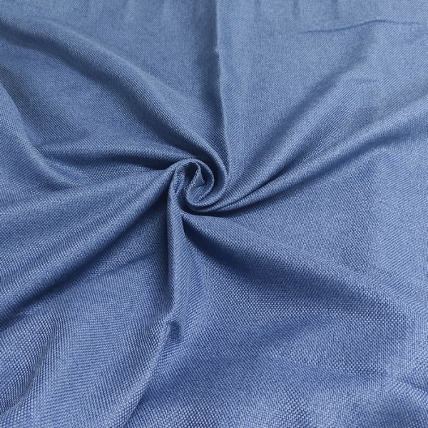 Рогожна тканина для штор дімаут Вега синя