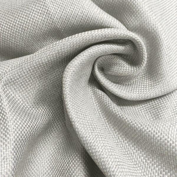 Рогожна тканина для штор дімаут Вега світло-сіра
