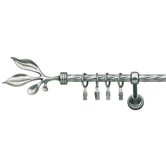 Карниз для штор кованый Баваро-1, Твистер, 16мм, сталь