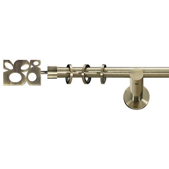 Карниз для штор кованый MD Бисетте-1, гладкий, 19мм, антик