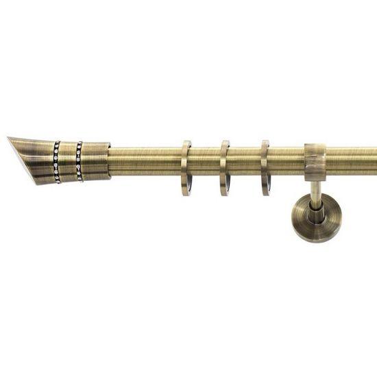 Карниз для штор кованый MD Дива-1, гладкий 25мм, антик