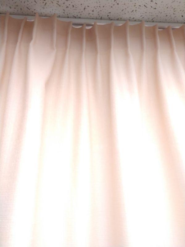 Штора на тесьме FURUD, бледно-розовая