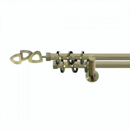 Карниз для штор кованый MD Лилет-2, гладкий, 19+19мм, антик