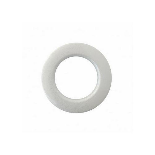 Люверс для штор білий, 28 мм, круглий