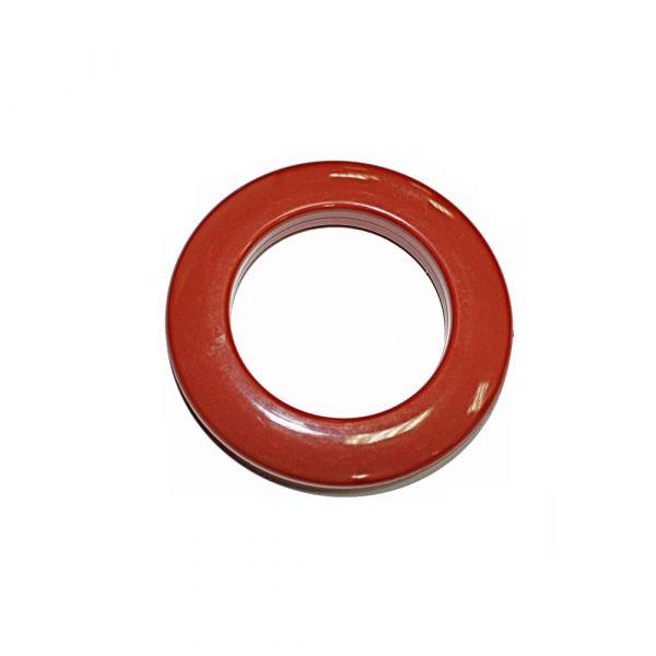 Люверс для штор червоний, 28 мм, круглий