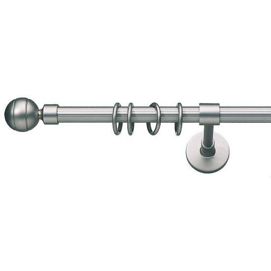 Карниз для штор кованый Паоло-1, гладкий, 16мм, сатин