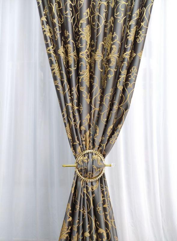 Штора на тасьмі PROPUS, сіро-жовта