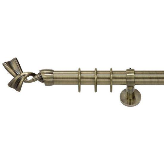 Карниз для штор кованый MD Рома-1, гладкий, 35мм, антик