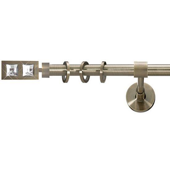 Карниз для штор кованый MD Симпл Дуо-1, гладкий, 25мм, антик