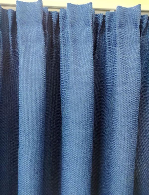 Рогожна штора дімаут на тасьмі Вега, синя